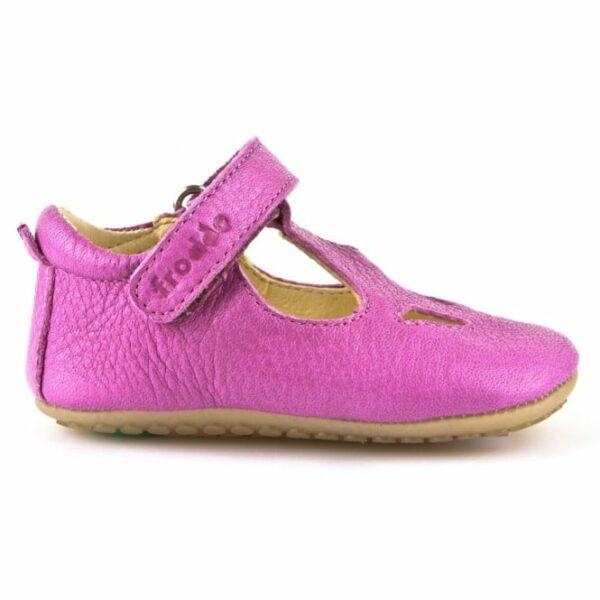 Sandale barefoot din piele fuchsia Froddo