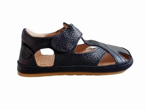 Sandale barefoot din piele naturală pentru primii pași Navy Move By Melton 3