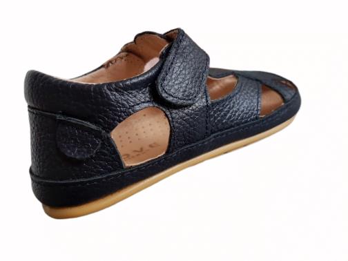 Sandale barefoot din piele naturală pentru primii pași Navy Move By Melton 4