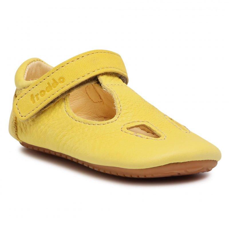 Sandale barefoot din piele yellow Froddo