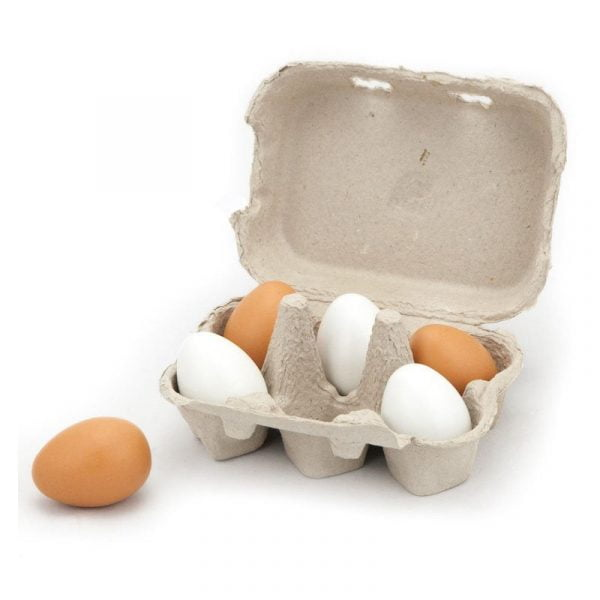 Set ouă din lemn 6 bucăți Viga