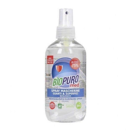 Spray igienizant pentru mască, mănuși și suprafețe bio 250ml Biopuro