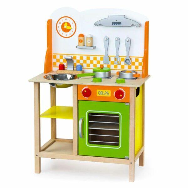 Bucătărie din lemn cu accesorii pentru copii Verde Viga