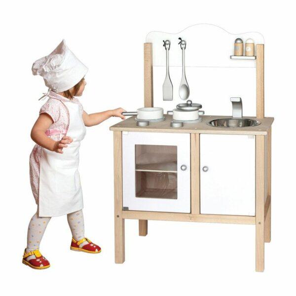 Bucătărie din lemn pentru copii Alb Viga