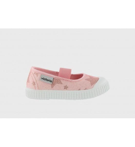 Balerini pentru copii cu elastic stele rosa Victoria 2