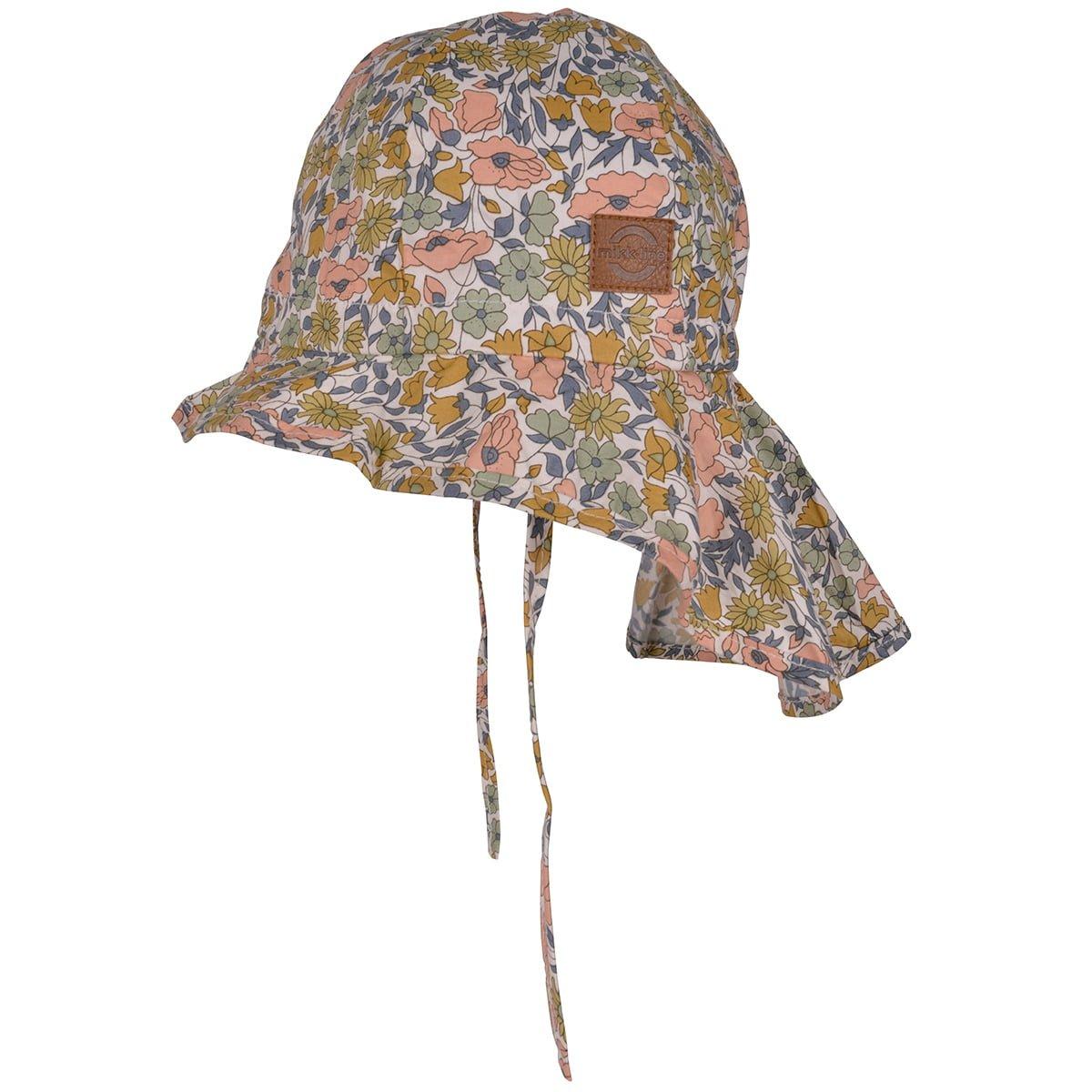 Pălărie de soare cu boruri mari din bumbac UV 50+ Cafe Au Lait Mikk-Line 2