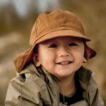 Pălărie de soare model pompier din bumbac UV 50+ Golden Brown Mikk-Line