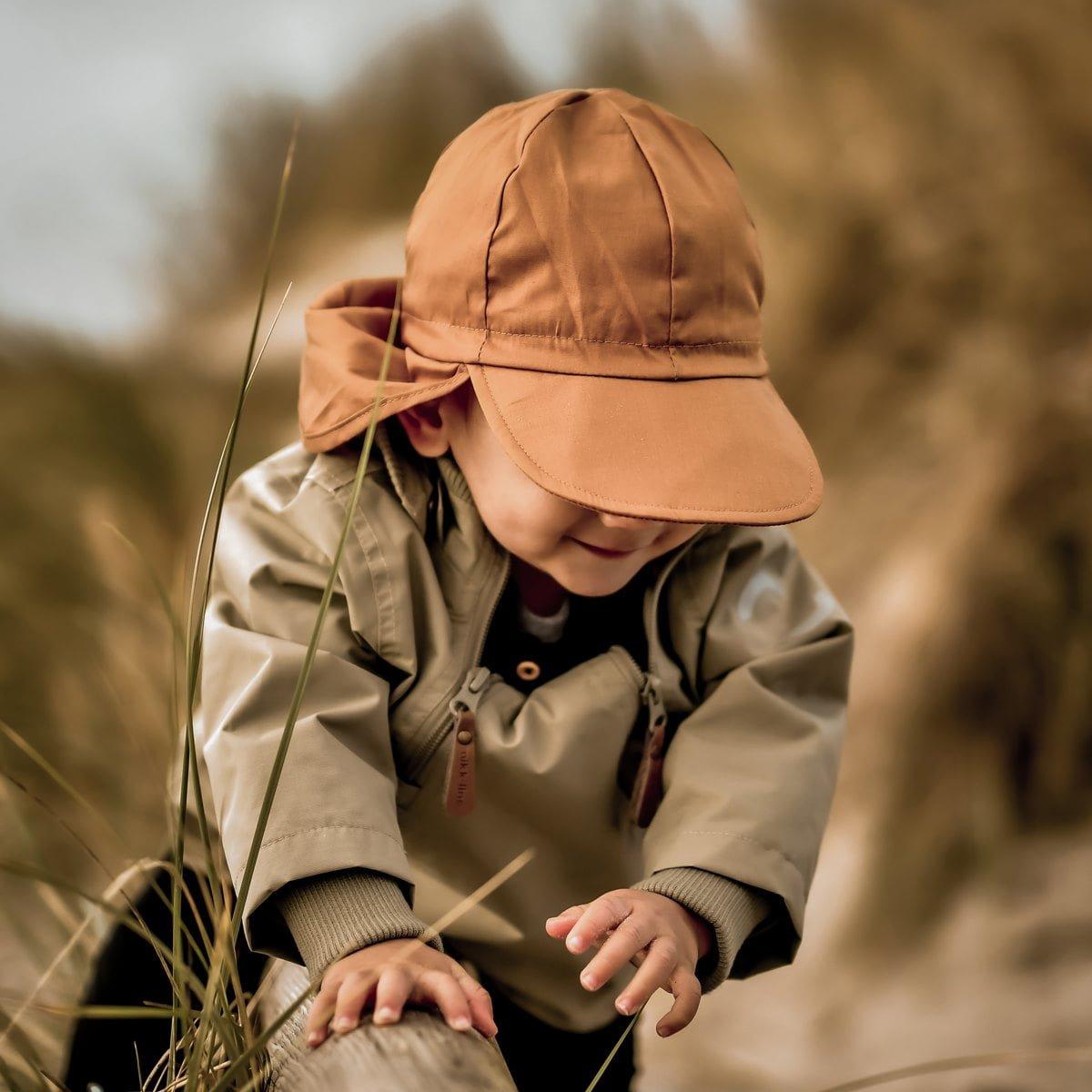 Pălărie de soare model pompier din bumbac UV 50+ Golden Brown Mikk-Line 2