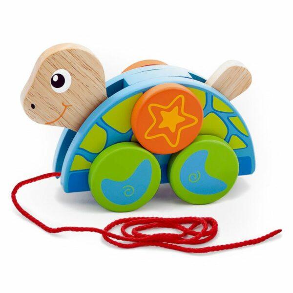 Jucărie de tras din lemn Țestoasa Viga