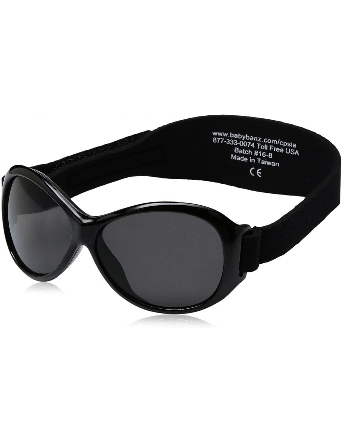 Ochelari de soare Bebe 0-2 ani Retro Oval Black (negri) Banz 2