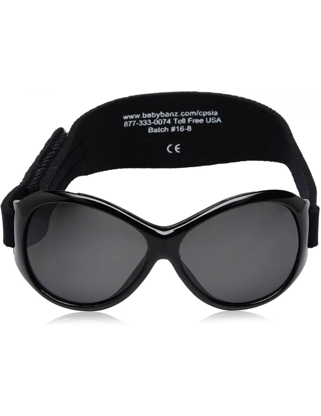 Ochelari de soare Bebe 0-2 ani Retro Oval Black (negri) Banz