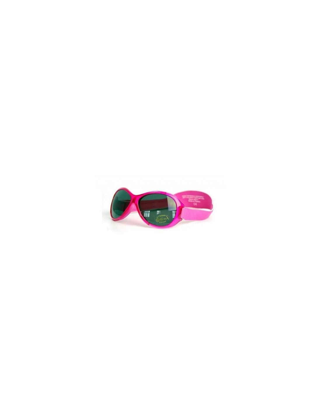 Ochelari de soare Bebe 0-2 ani Retro Oval Pink Banz 2