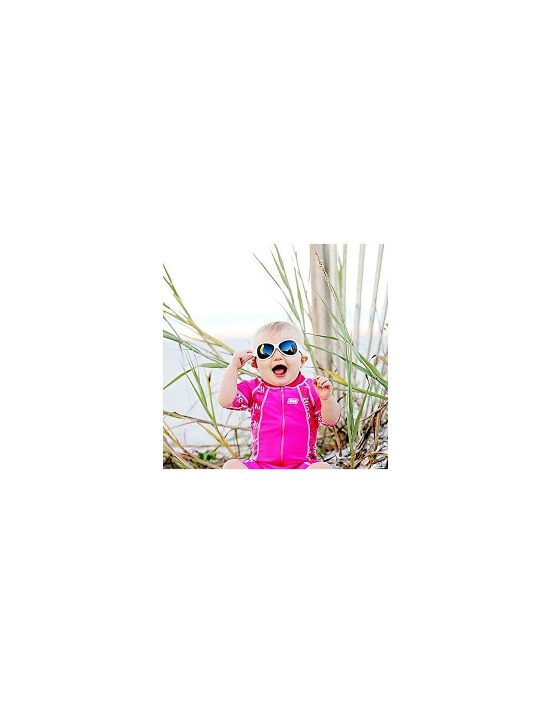 Ochelari de soare Bebe 0-2 ani Retro Oval Pink Banz 3
