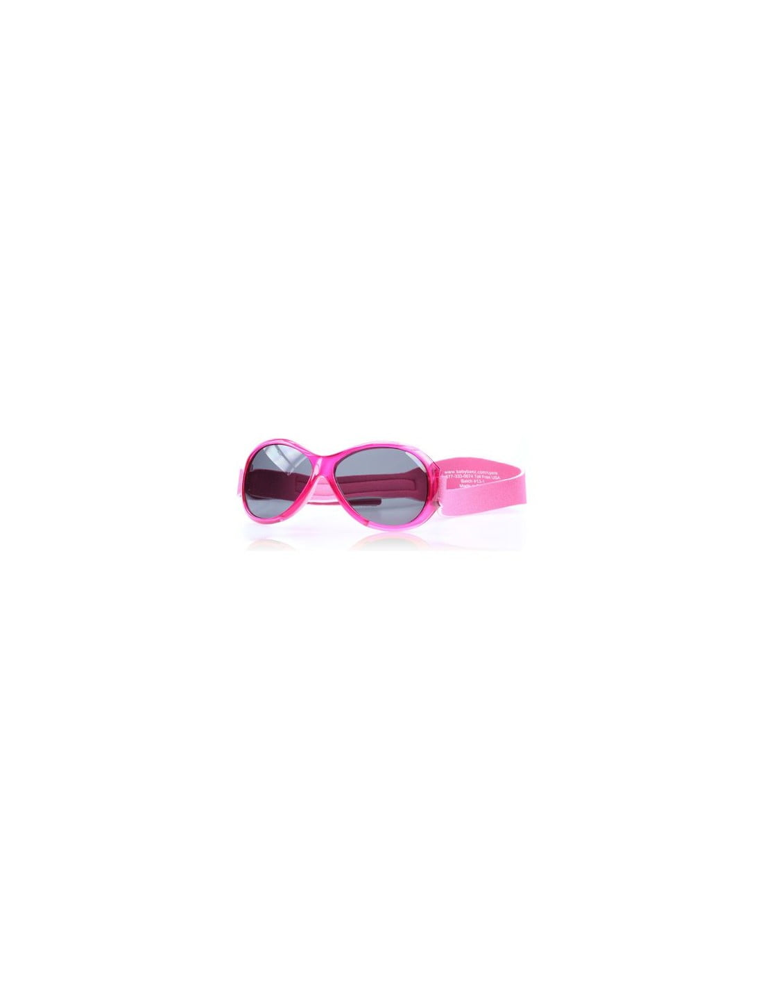 Ochelari de soare Bebe 0-2 ani Retro Oval Pink Banz