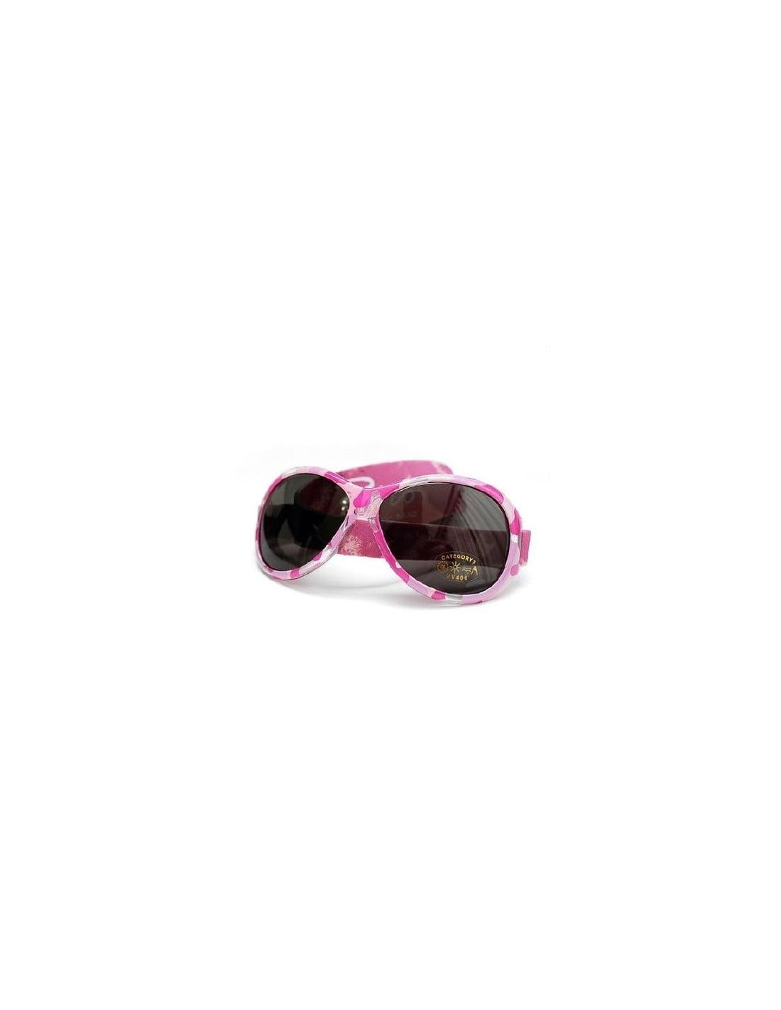 Ochelari de soare Bebe 0-2 ani Retro Oval Pink Diva Banz