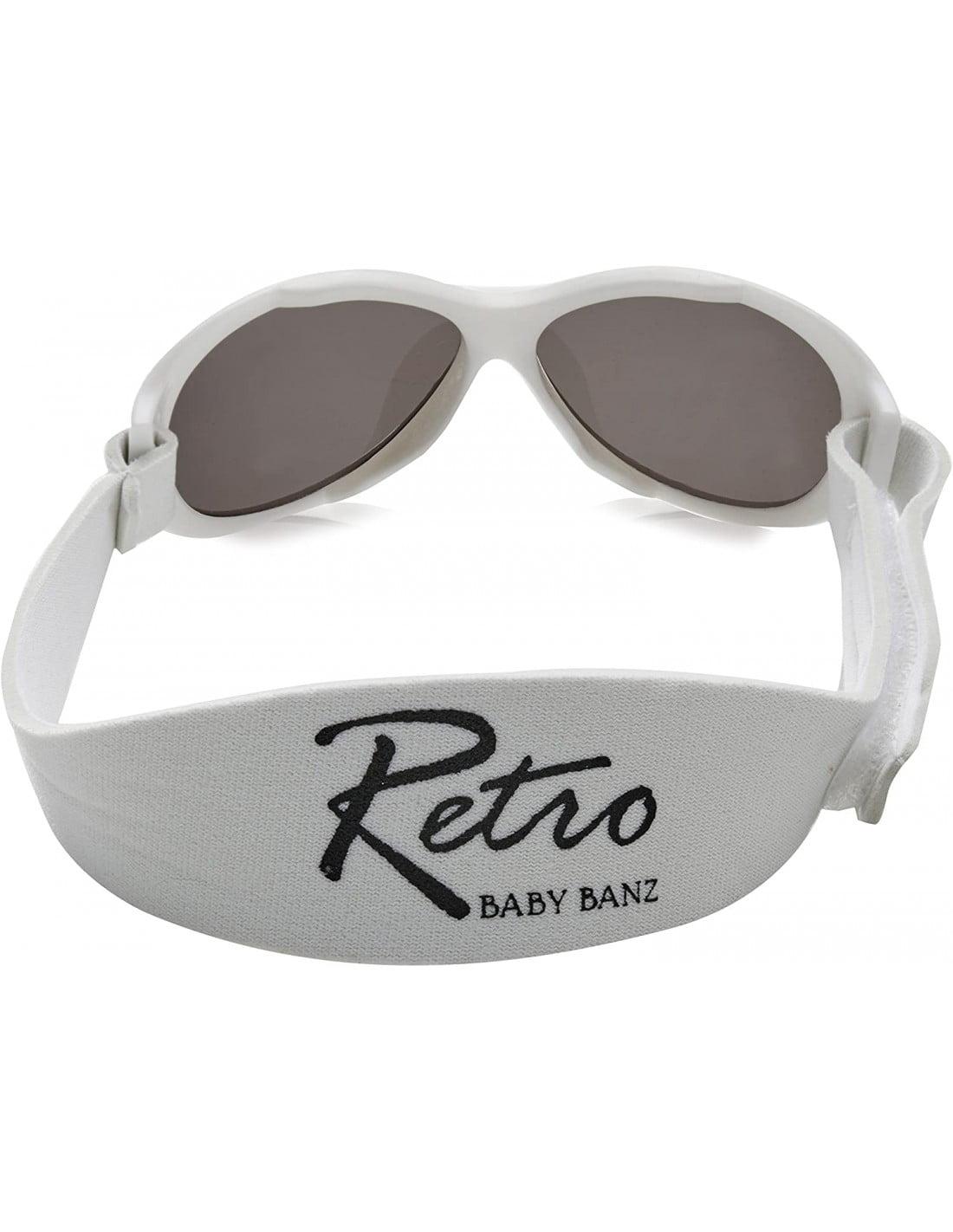 Ochelari de soare Bebe 0-2 ani Retro Oval White (alb) Banz 2