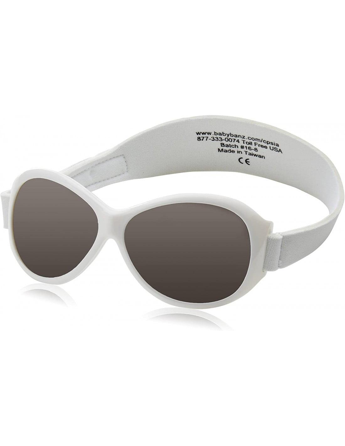 Ochelari de soare Bebe 0-2 ani Retro Oval White (alb) Banz