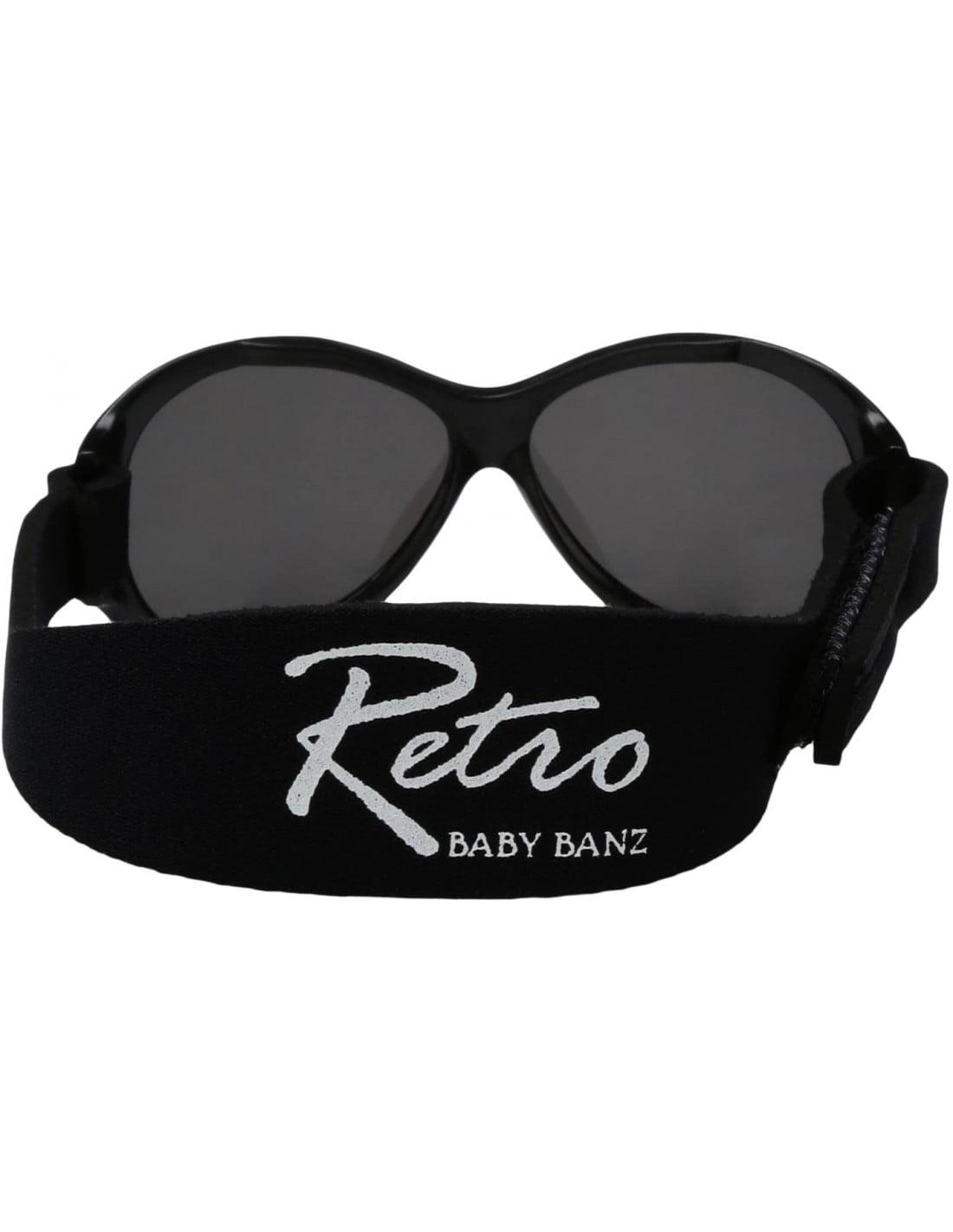 Ochelari de soare Bebe 2-5 ani Retro Oval Black Banz 3