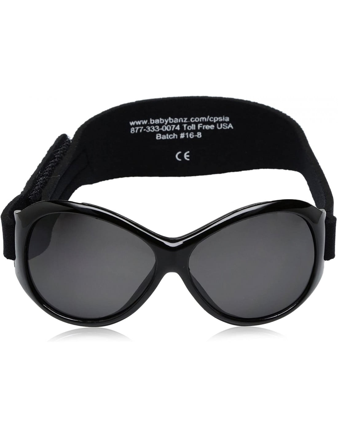 Ochelari de soare Bebe 2-5 ani Retro Oval Black Banz