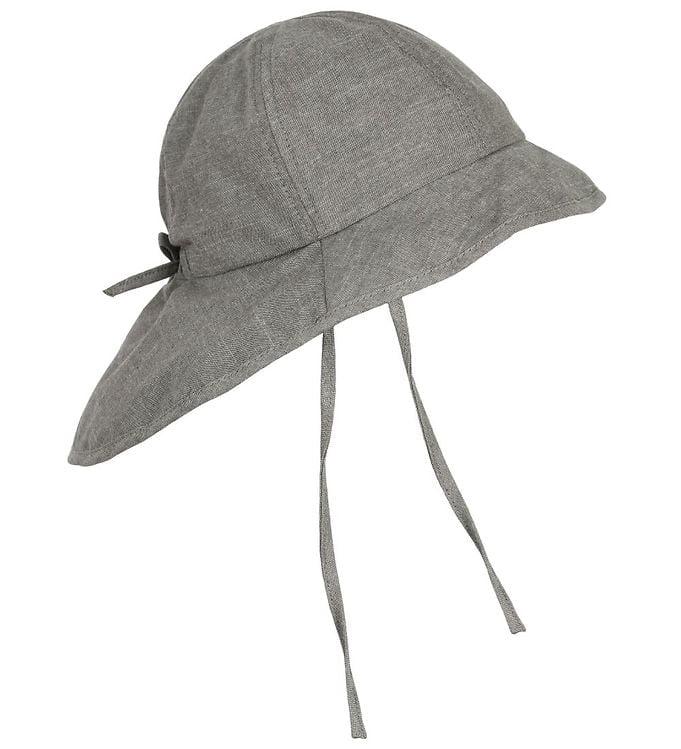 Pălărie de soare cu boruri din bumbac UV 50+ Grey Melange En Fant