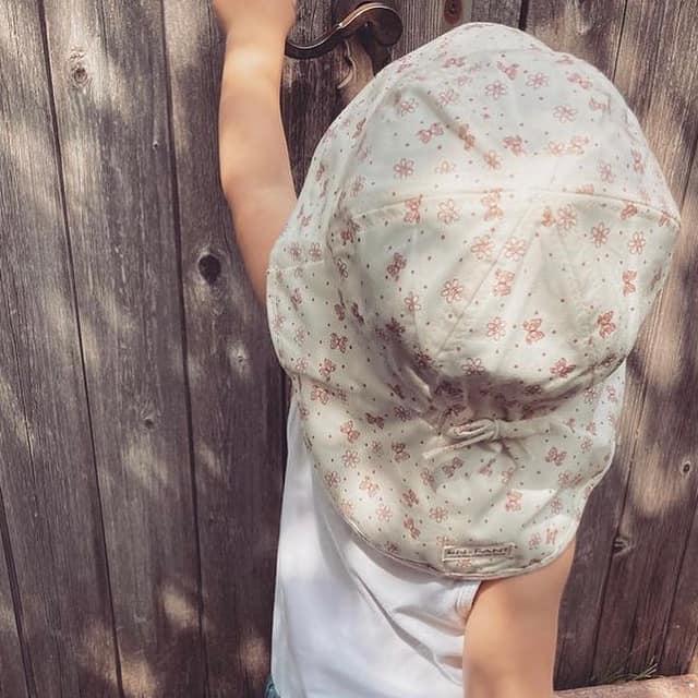 Pălărie de soare cu boruri din bumbac UV 50+ Old Rose En Fant 2