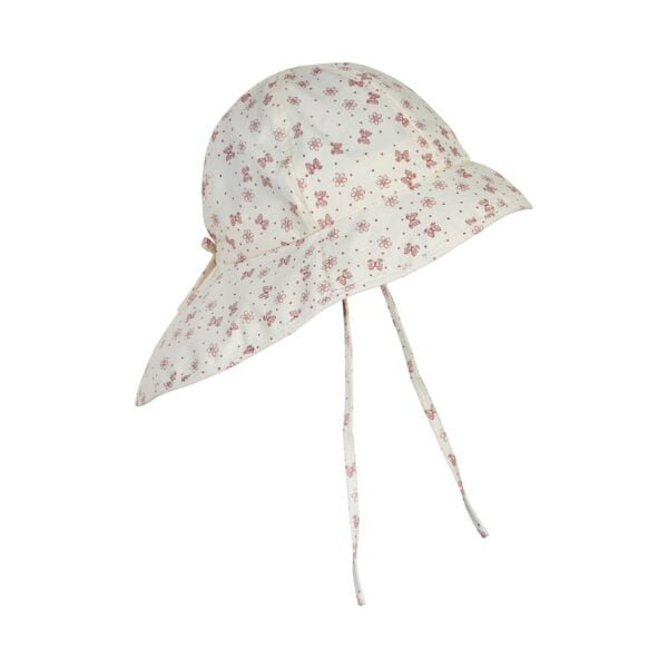 Pălărie de soare cu boruri din bumbac UV 50+ Old Rose En Fant