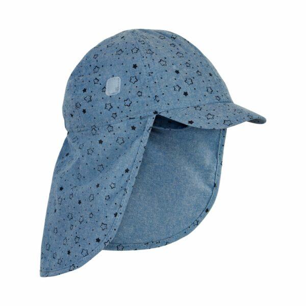 Pălărie de soare model pompier-șapcă din bumbac UV 50+ Faded Denim En Fant
