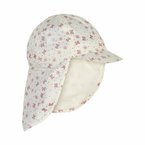 Pălărie de soare model pompier-șapcă din bumbac UV 50+ Old Rose En Fant