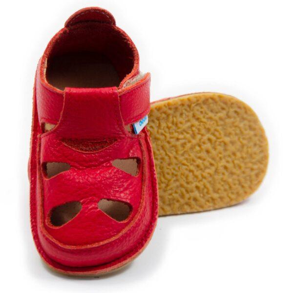 Sandale barefoot din piele Rosu Dodo