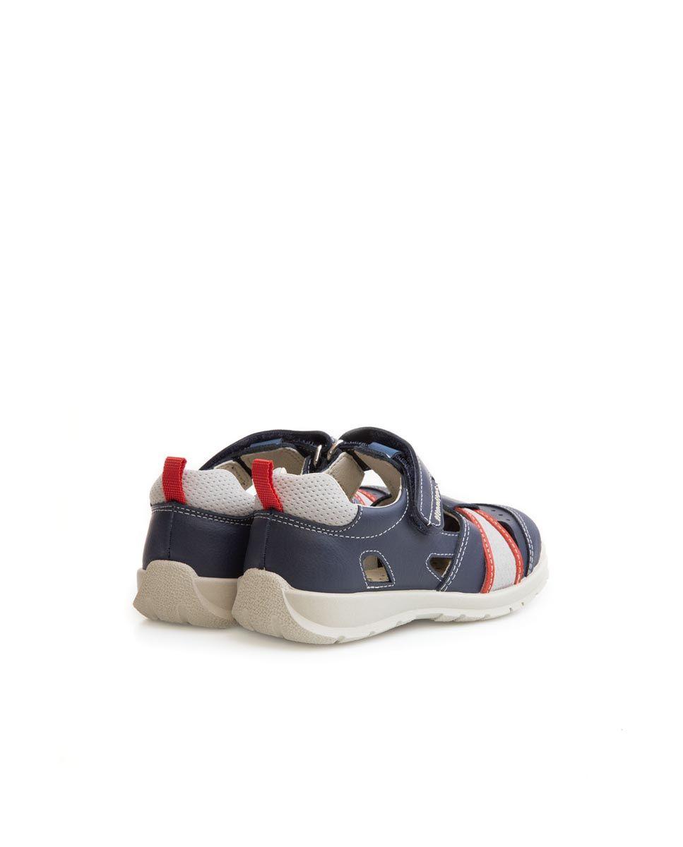 Sandale din piele naturală pentru copii Aurelio Navy Titanitos 3