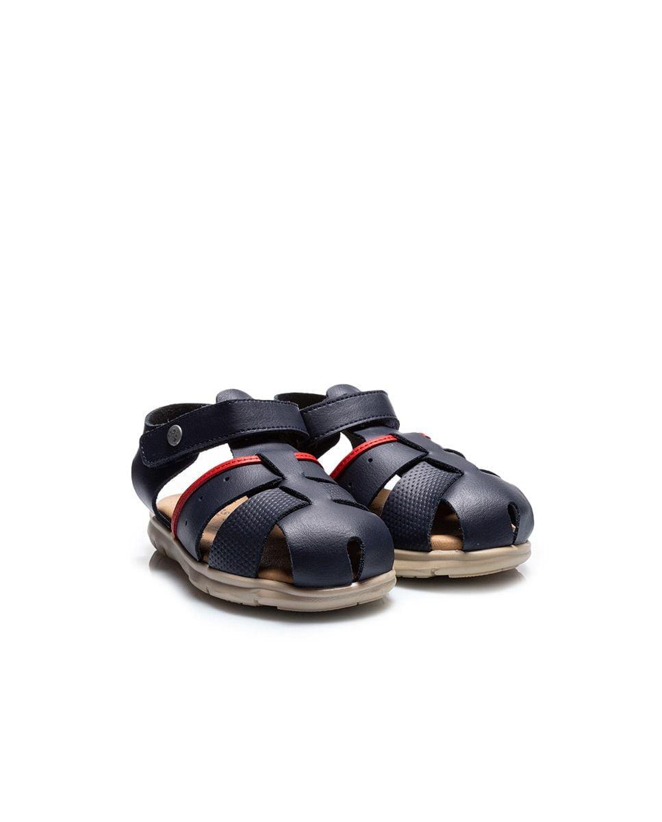 Sandale din piele pentru copii Quimi Kaki Titanitos 2