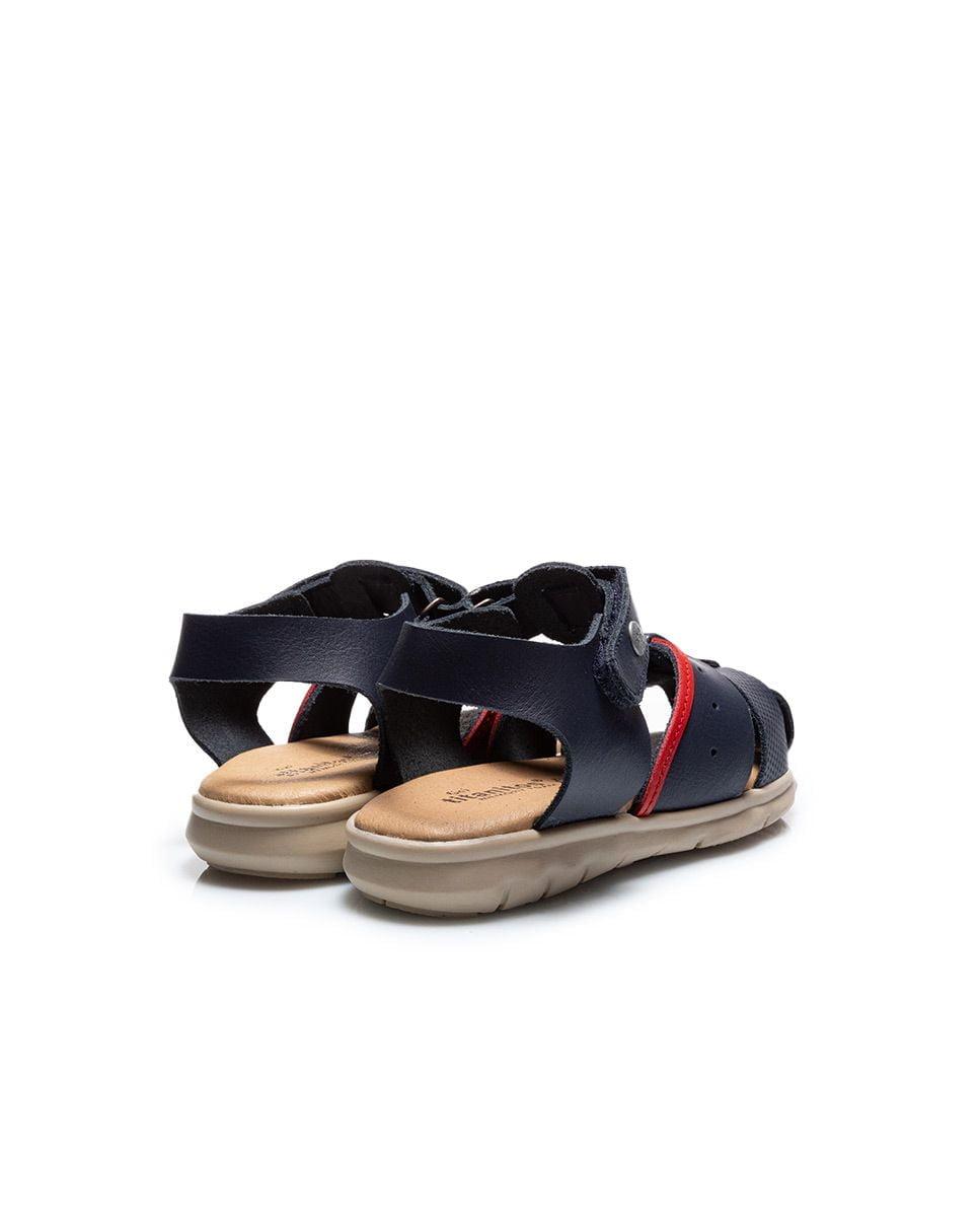 Sandale din piele pentru copii Quimi Kaki Titanitos 3