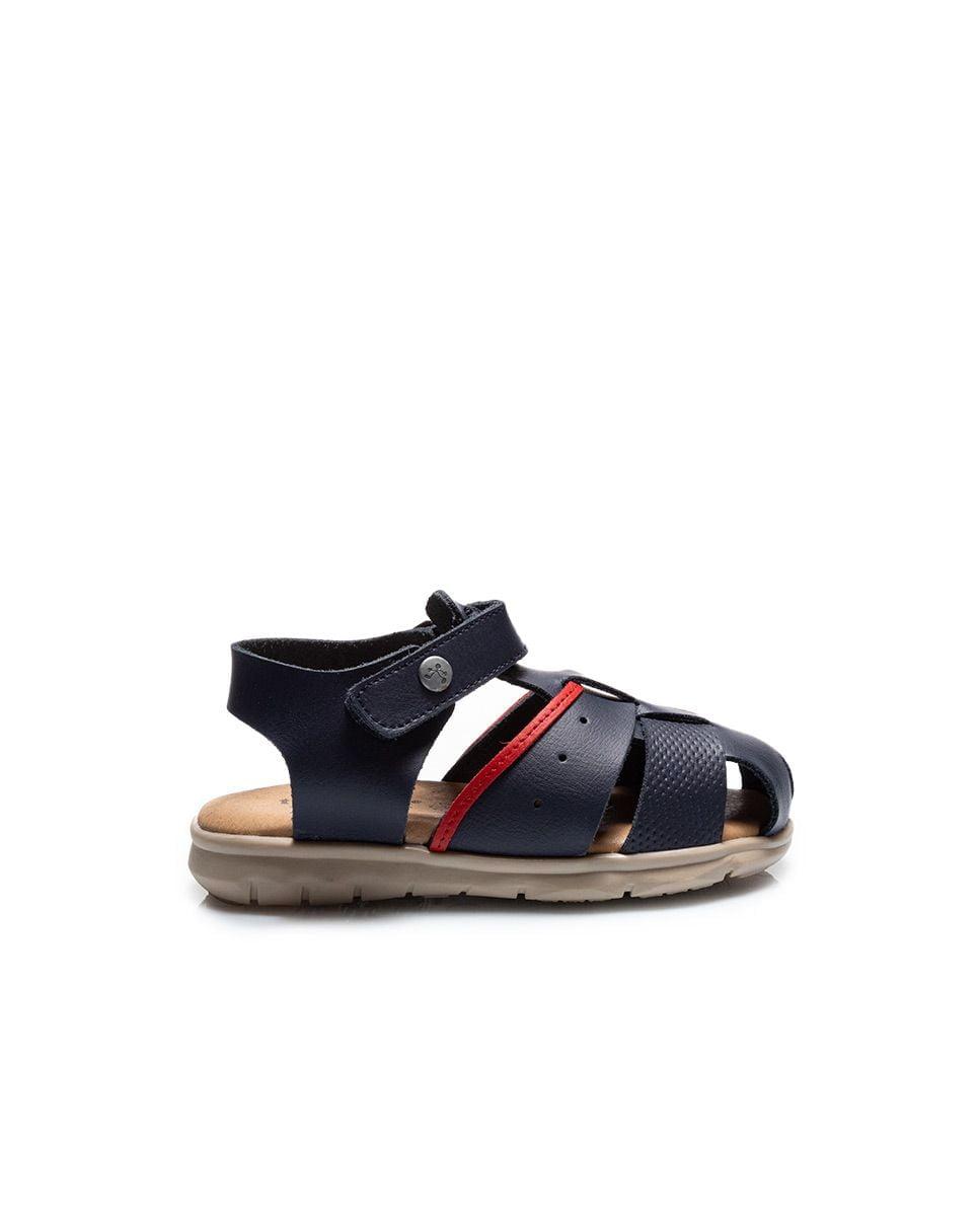 Sandale din piele pentru copii Quimi Kaki Titanitos