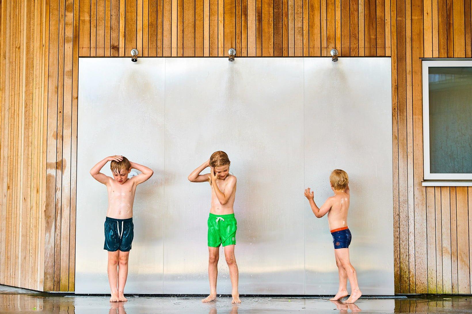 Șort de baie pentru băieți UPF30+ Raspberry Color Kids 3