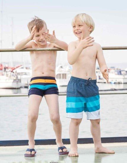 Șort de baie pentru băieți UPF40+ Crystal Teal Color Kids 2