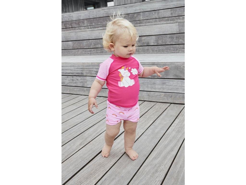 Șort de baie pentru fete UPF40+ Cotton Candy Color Kids 3