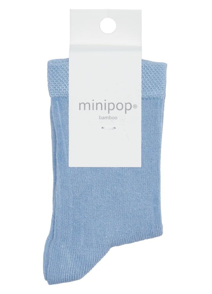 Şosete fine din bambus light blue MiniPop