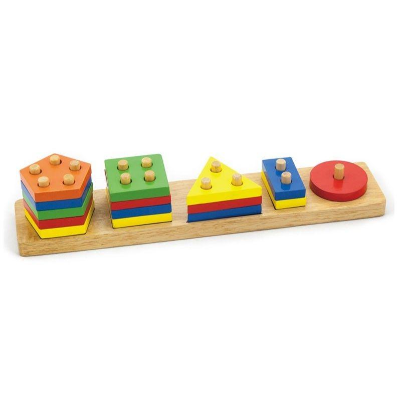 Joc de sortare educativ cu forme geometrice Viga 2