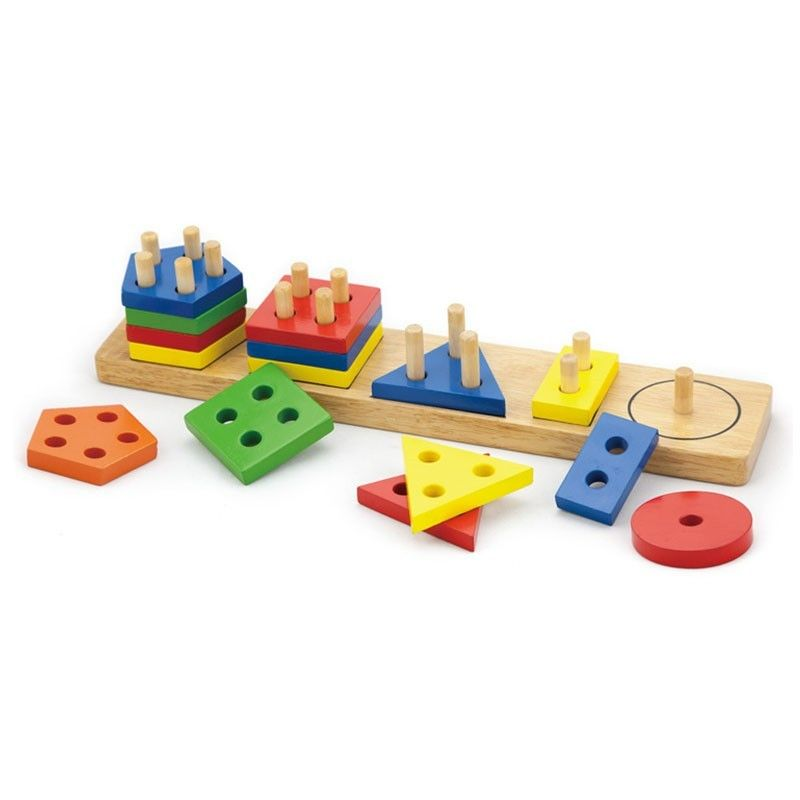 Joc de sortare educativ cu forme geometrice Viga