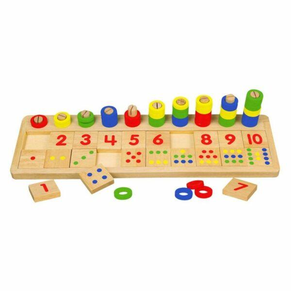 Joc educativ Numără și potrivește numerele Viga