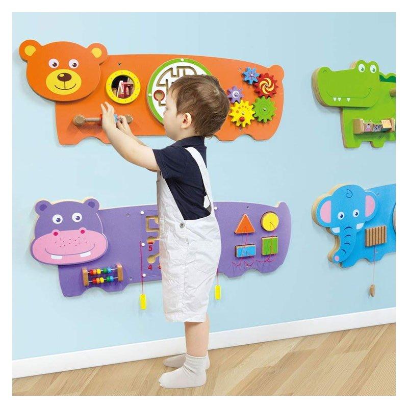 Jucărie de perete multifuncțională Ursuleț Viga 3
