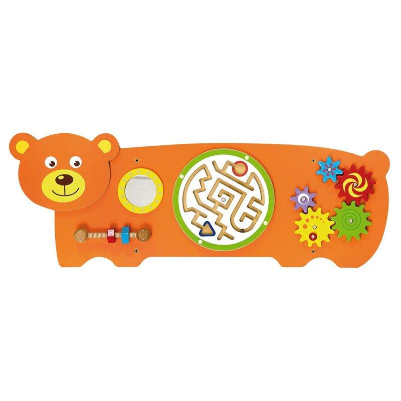 Jucărie de perete multifuncțională Ursuleț Viga