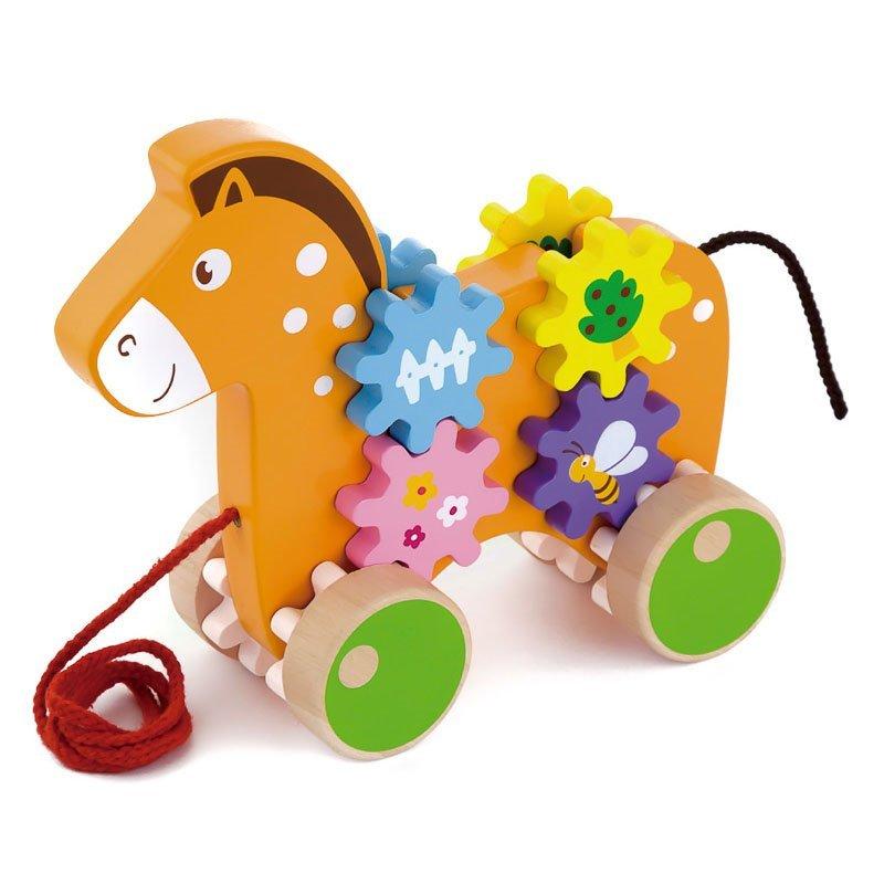 Jucărie de tras din lemn Căluț Viga