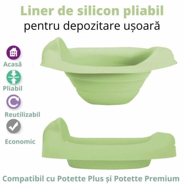 Liner reutilizabil din silicon pentru oliță portabilă vernil Potette Plus