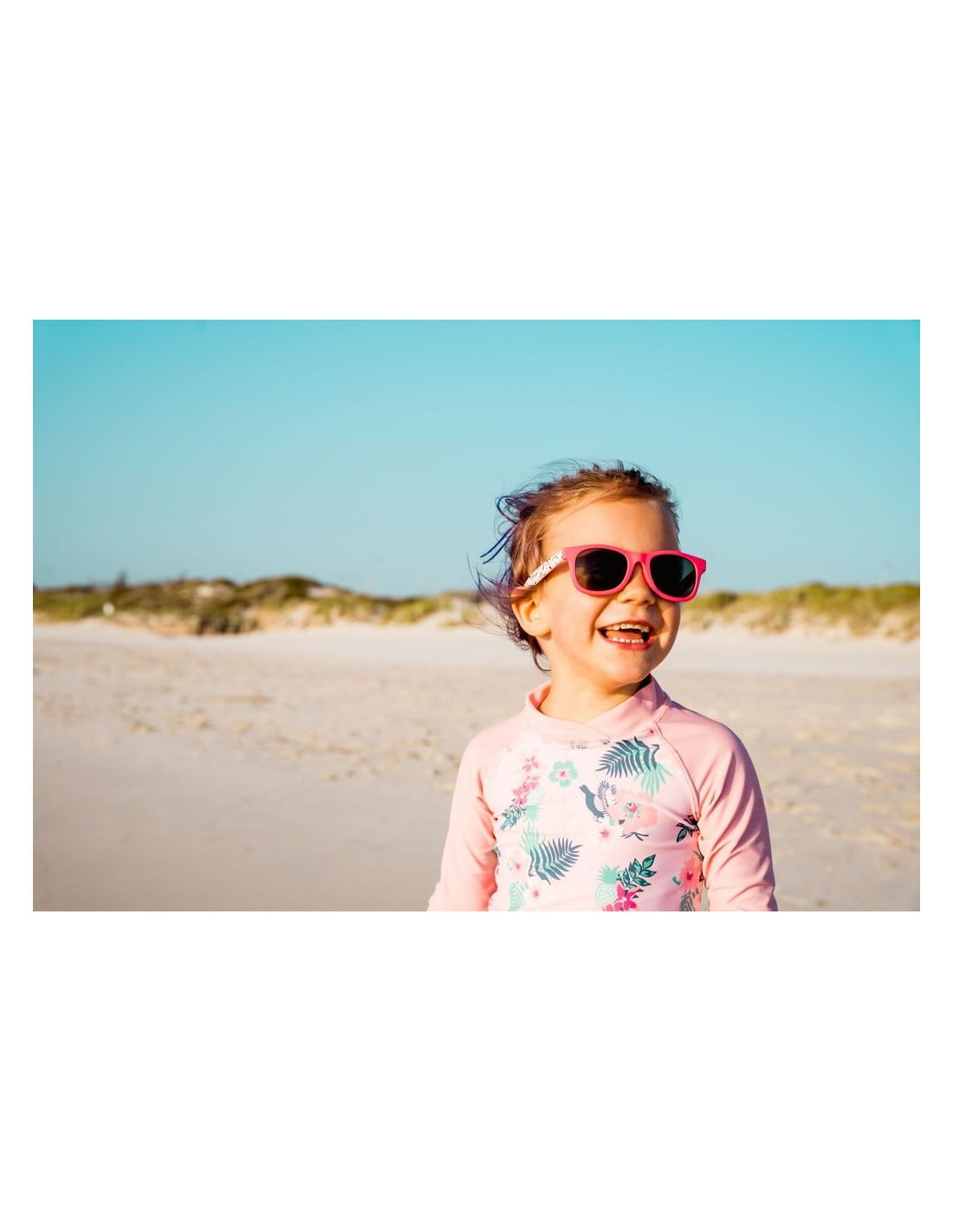 Ochelari de soare 2-4 ani J-Banz Beachcomber Cherry Floral 2