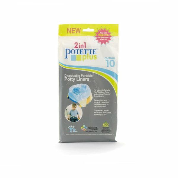Pungi biodegradabile pentru oliță portabilă 10 bucăți-set Potette Plus