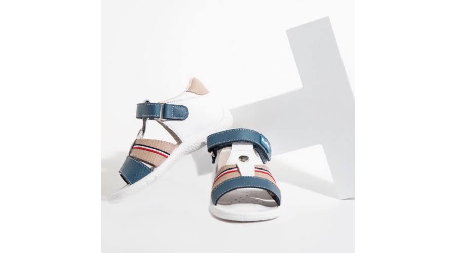 Sandale din piele naturală pentru copii Pau Combi 2 Titanitos