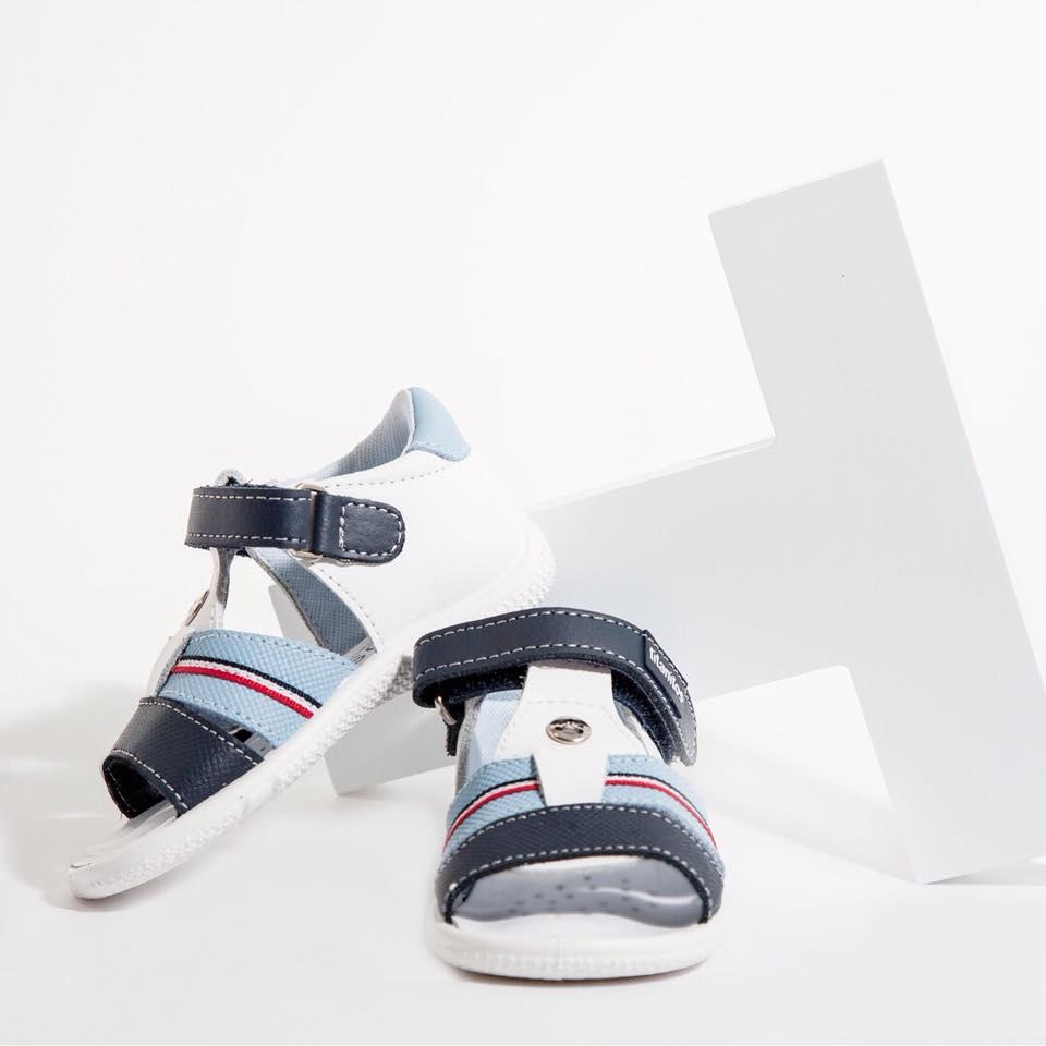 Sandale din piele naturală pentru copii Pau Combi 3 Titanitos