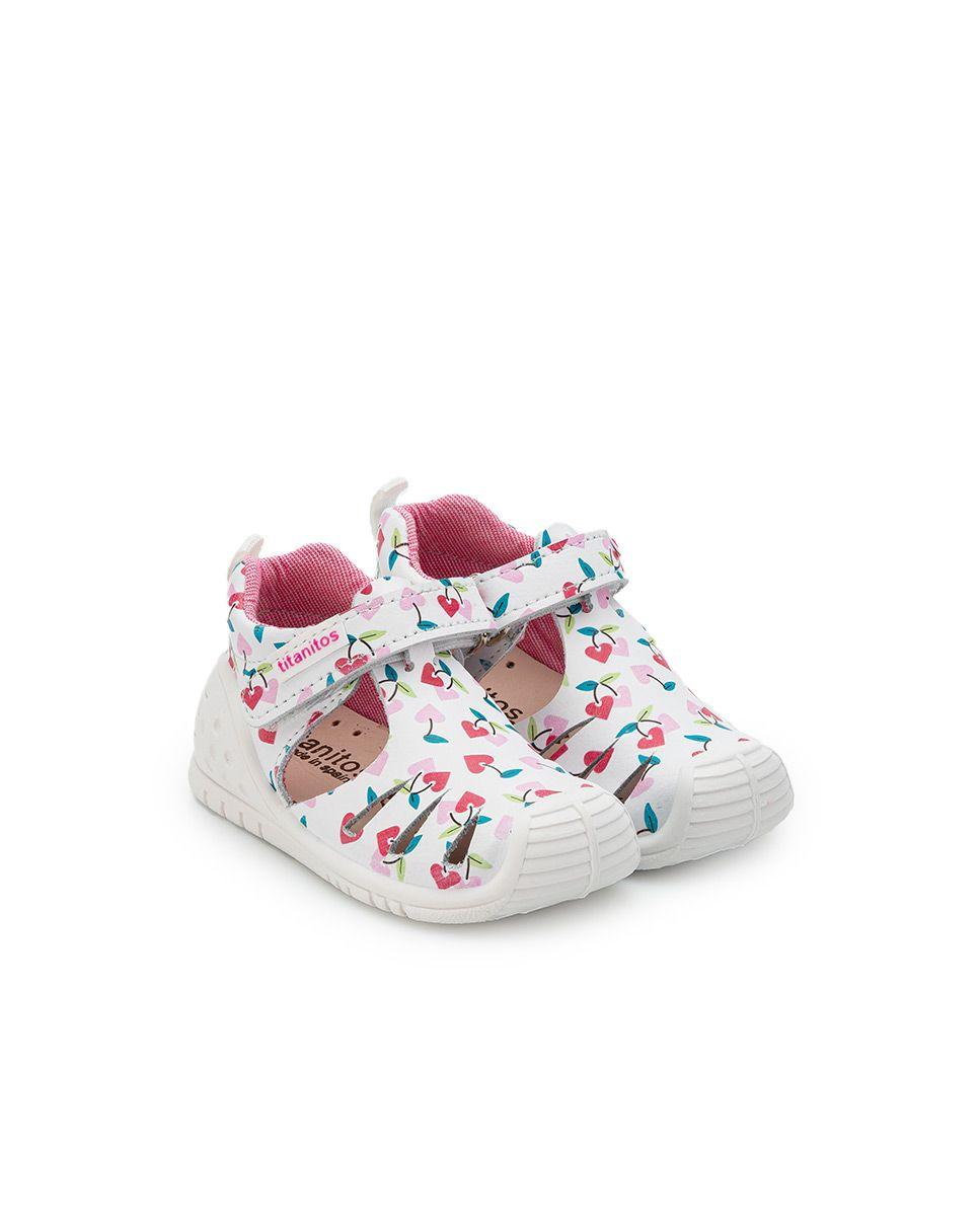 Sandale din piele naturală pentru copii cu talpă flexibilă Sally Blanco Titanitos 2