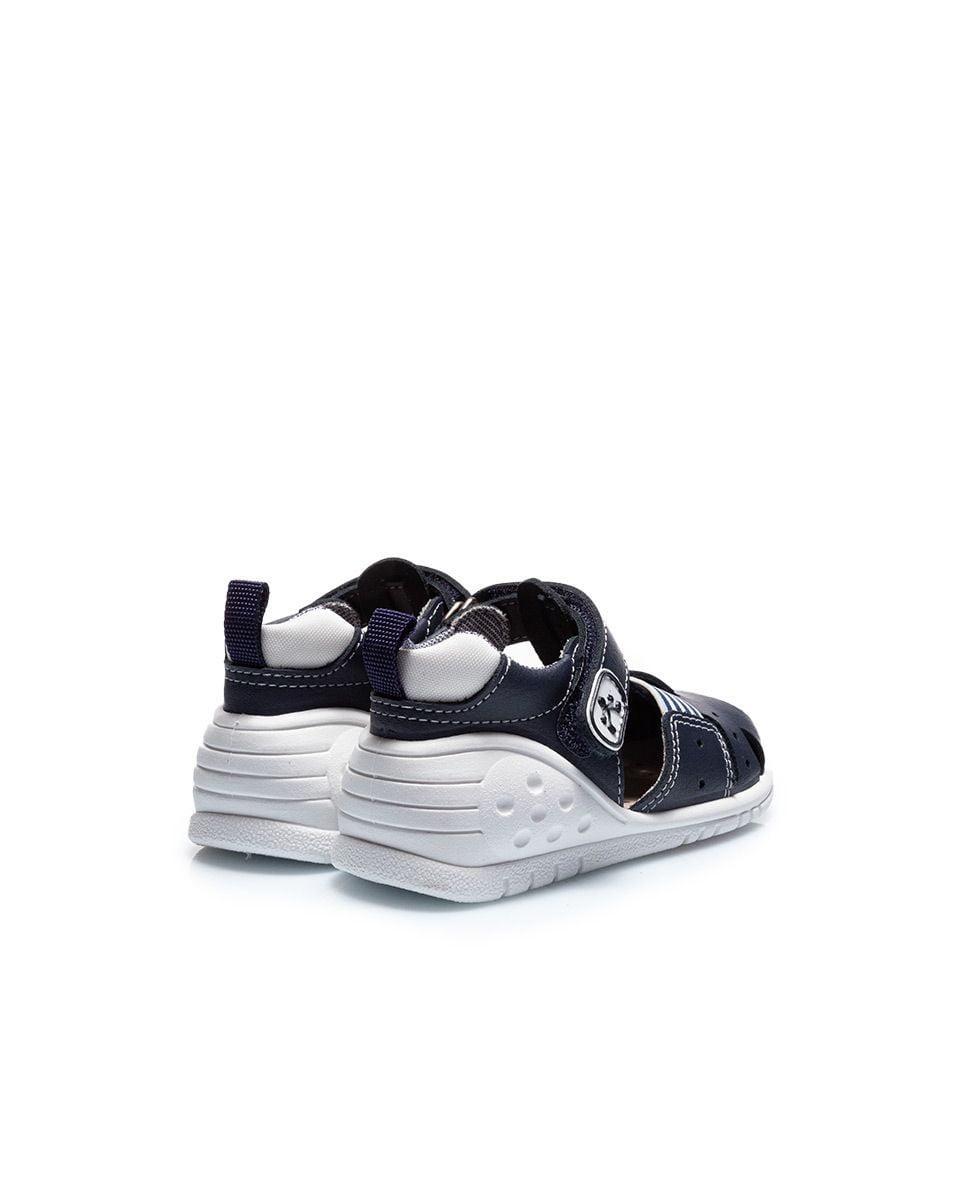 Sandale din piele naturală pentru copii cu talpă flexibilă Usa Navy Titanitos 4